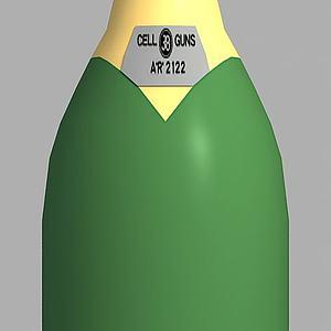 动漫酒瓶模型