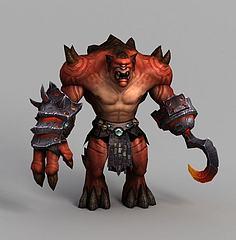 魔兽世界游戏角色模型3d模型