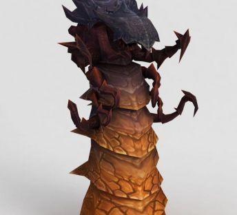 魔兽世界龙造型石柱