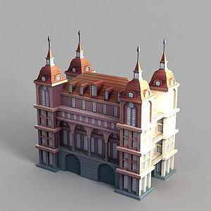 3d動漫城堡模型