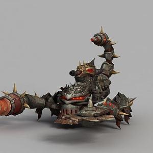 3d魔兽世界作战大炮模型
