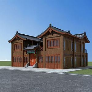 3d中式四合院模型