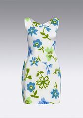 印花连衣裙模型3d模型