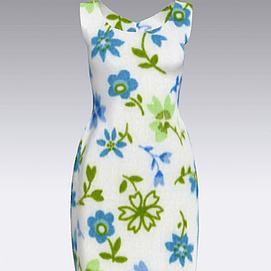 印花连衣裙模型