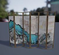 屏风3d模型