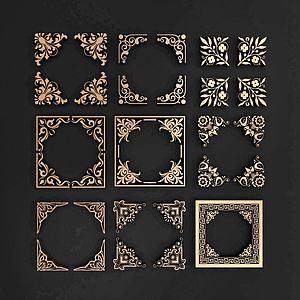 中式角花模型