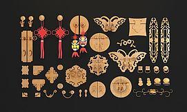 中式拉手组合模型