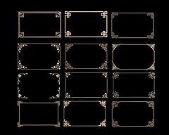 中式角花角线花格组合模型3d模型