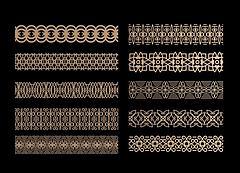 中式花格腰线组合模型3d模型