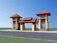 小区入口模型3d模型