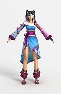 青云山游戏人物形象3d模型