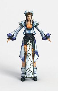 游戏人物角色3d模型