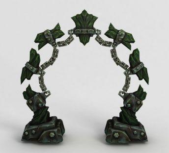 魔兽场景拱形门