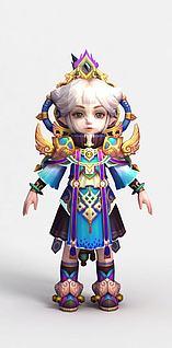 灵夙游戏人物形象3d模型