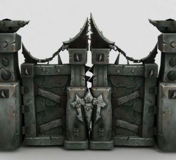 魔兽世界场景铁门