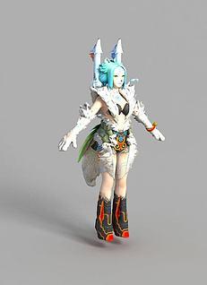 游戏人物形象3d模型