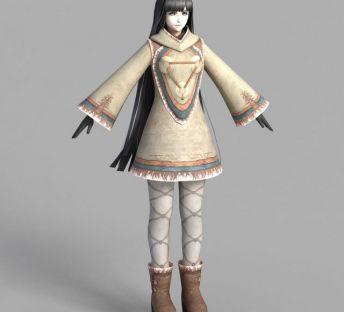 游戏西域女孩人物形象