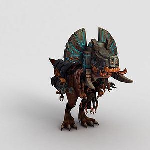 魔兽世界恐龙坐骑模型3d模型