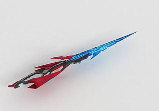 游戏刀剑道具3d模型