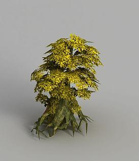 游戏场景树木装饰3d模型