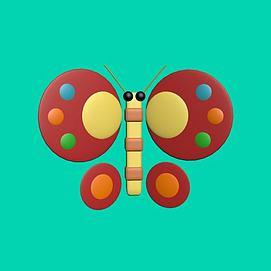 3d蝴蝶玩具模型