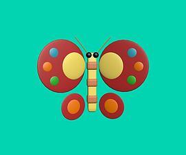 蝴蝶玩具模型