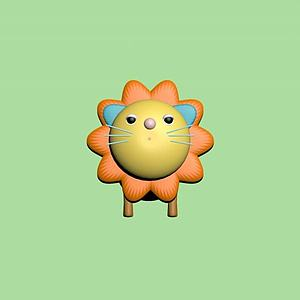 卡通獅子玩具3d模型