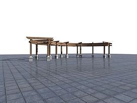 长廊花架模型