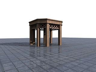 景观亭3d模型