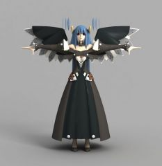 游戏动漫人物角色模型3d模型