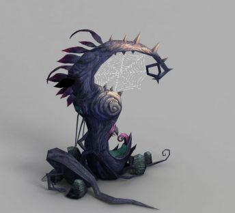 魔兽世界蜘蛛网树木装饰