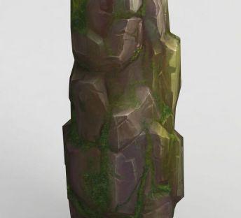 手绘写实石头模型
