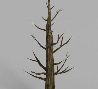 魔兽世界干枯的树场景装饰