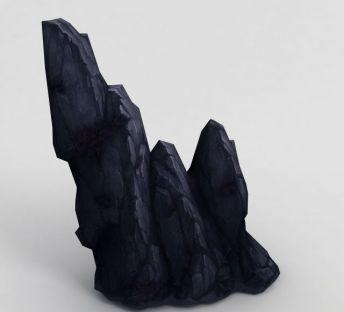 手绘写实石头