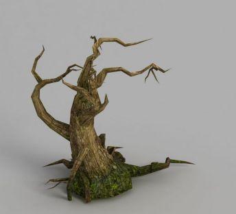 魔兽世界枯树场景装饰