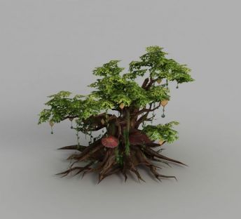 魔兽世界游戏大树场景装饰