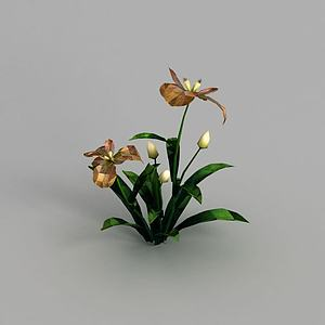 3d魔兽世界游戏灌木花丛装饰模型