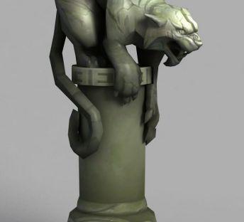 魔兽世界剑齿虎装饰石柱