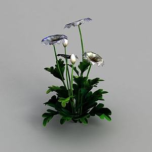 3d魔兽世界灌木花丛装饰模型