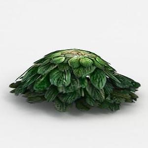 3d魔兽世界灌木花从装饰模型