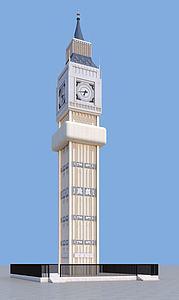 钟楼建筑模型3d模型