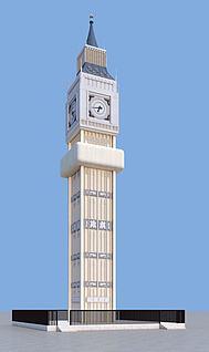 钟楼建筑3d模型