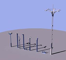 景观灯路灯模型