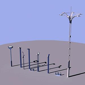 景观灯路灯模型3d模型