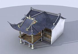 古建戏台建筑模型