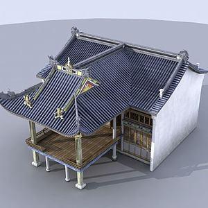3d古建戏台建筑模型