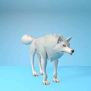 動漫狼形象模型3d模型