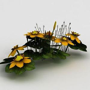 魔兽世界游戏场景花卉装饰模型