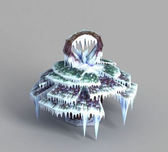 游戏场景冰挂装饰