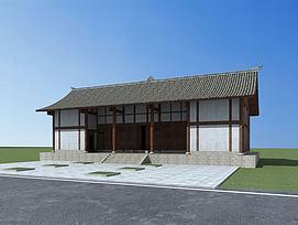袁涣仙故居古建模型